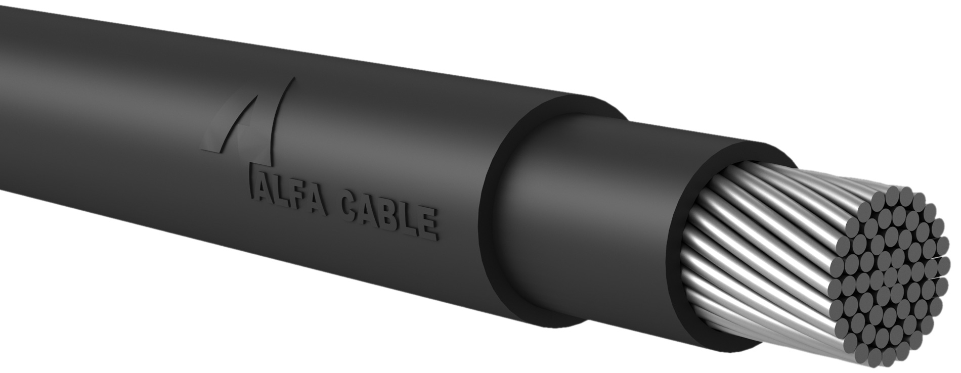Low Voltage Power Cable With Single Core Aluminum Conductor Alfa Industry